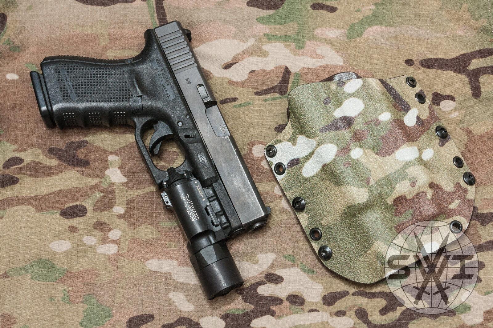 SWI Kydex Kydex Kydex Holster für Waffen mit SureFire X300 Leuchte, RH   LH, versch. Farben 104742