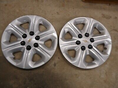 "OEM 2014 CHEVY TRAVERSE 17/"" HUBCAPS WHEEL COVERS 3284 P//N 9597564 2"
