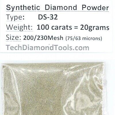 Synthetic Diamond Powder Lapidary 270//325Mesh weight-100 carats=20 gram 300grit