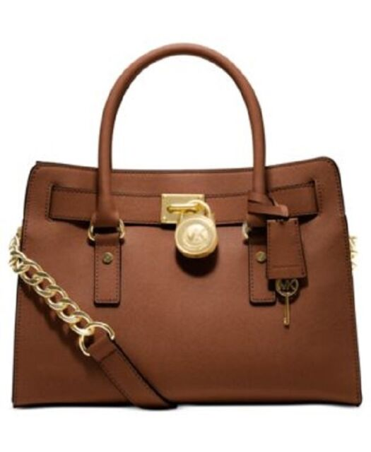 75e6ad766ff0 Michael Kors Hamilton Mini Leather Messenger Bag Luggage Brown 32t2ghmm1y