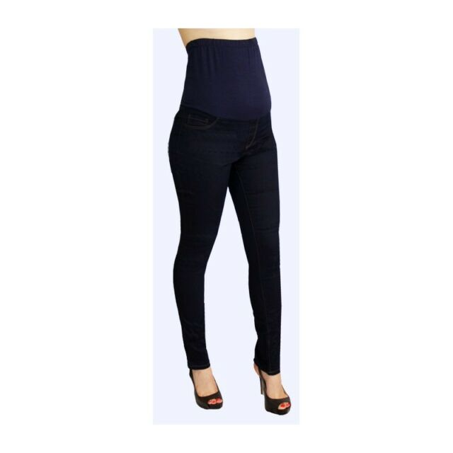 Sexy Fun Rayon Blend Maternity Jeans in Blue or Burgundy Denim S, M, L, XL USA