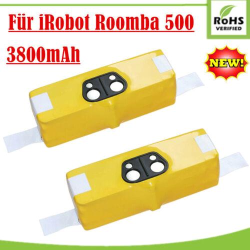 2X 14,4V 3800mAh Ni-MH Akku für iRobot Roomba 500 510 537 550 580 700 800 Serie