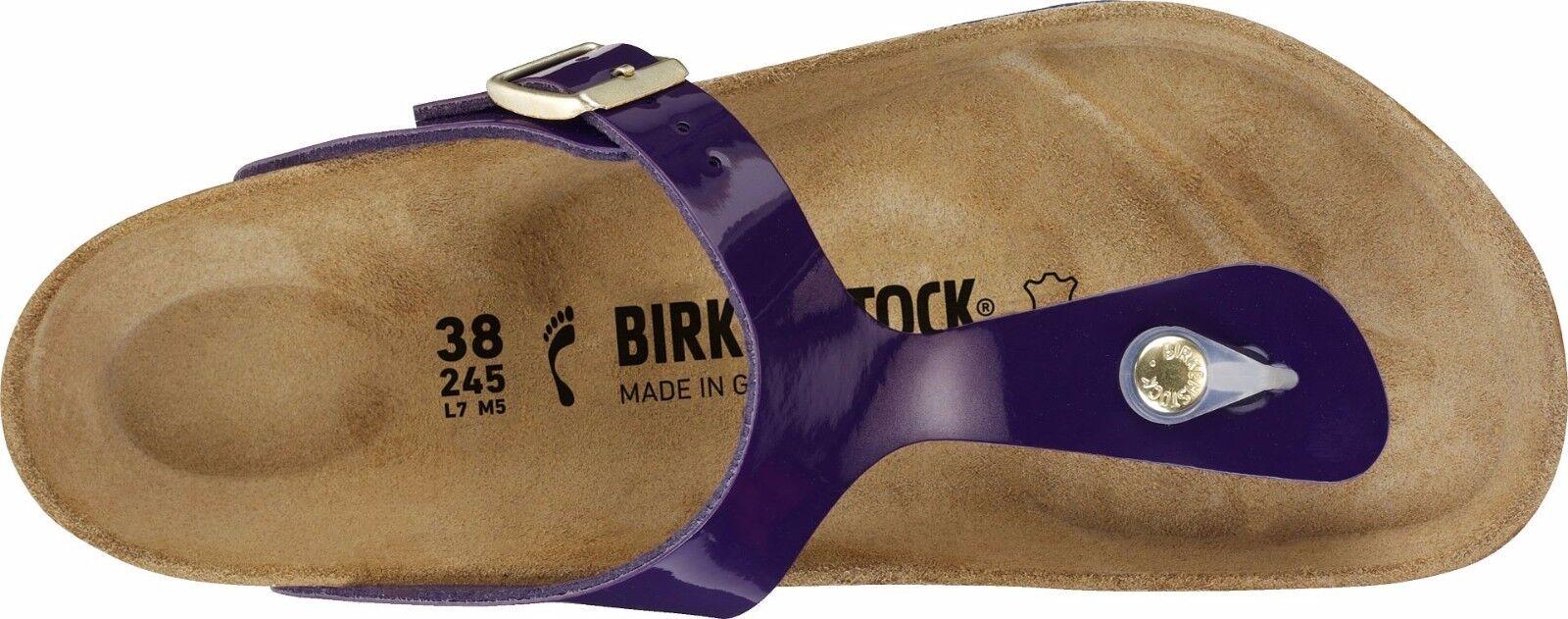 Birkenstock Größe Gizeh Violet Patent Birko-Flor Größe Birkenstock 35-43 normales Fußbett be2ce1