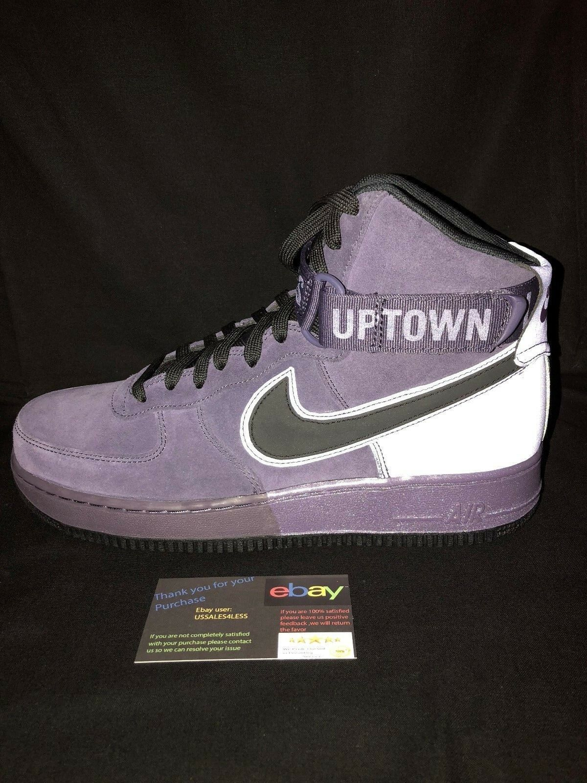 Nike Air Force 1 High '07 QS Men's shoes Dark Raisin Night Purple 573967-500