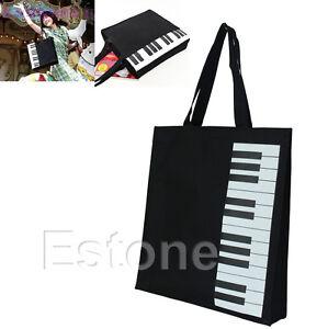 New-Hot-Fashion-Black-Piano-Keys-Music-Handbag-Tote-Bag-Shopping-Bag-Handbag