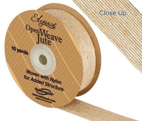 Crafts Vintage Wedding Eleganza Natural Open Weave Jute Ribbon x 10yds