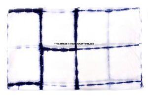 New-Indian-Tie-Dye-Shibori-Fabric-Upholstery-BLUE-Cotton-Voile-10-Yard-Fabric