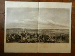 Stampa Battaglia di D' Isly Dopo Horace Vernet Da Paul Girardet Cardo