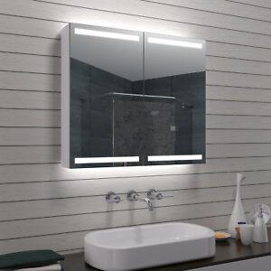 Alu LED Beleuchtung Badezimmerschrank Spiegelschrank Bad schrank ...