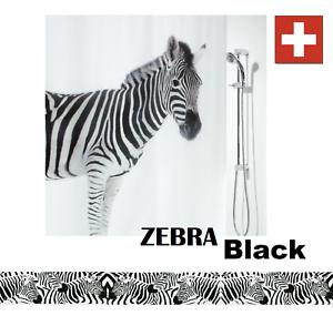 100/% PEVA Schwarz Weiss Markenware Fofy Black Fisch Duschvorhang 180 x 200 cm