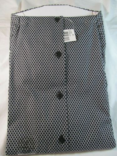 NWT VAN HEUSEN FRESH DEFENSE LONG SLEEVE DRESS SHIRT Slim Fit Black /& White Pri