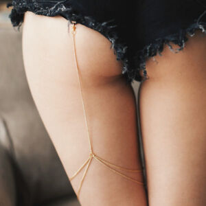 NEW-Women-thigh-chain-body-chain-bikini-jewelry-beach-body-chain-Gold-Color