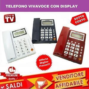 TELEFONO-FISSO-DA-UFFICIO-ALBERGO-HOTEL-CASA-CON-FILO-VIVAVOCE-LCD-DISPLAY-L21