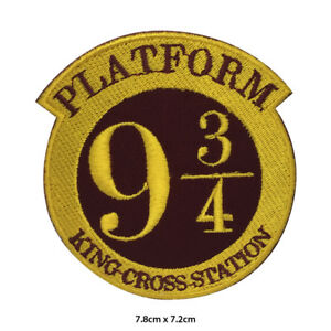 Harry-Potter-Platform-9-3-4-Embroidered-Patch-Iron-on-Sew-On-Badge-For-Clothes