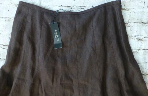 Talbots Women's Size 10 Brown Aline Petite Pure Linen Skirt a7Xaq6rw