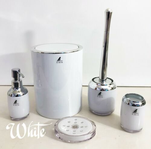 Liana 5-Piece ABS and Chrome Bathroom accessories set Modern and elegant design