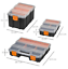 thumbnail 2 - Storage Boxes With Dividers And Locking Lids, Stacking Set Of 4 Plastic DIY