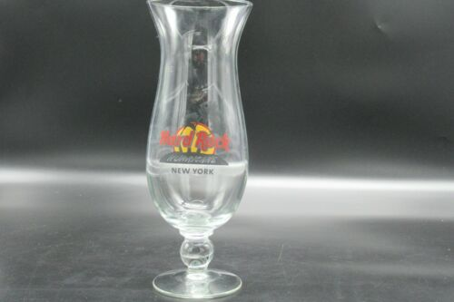 "Hard Rock Cafe Hurricane Cocktail Glass New York  9/"" Collectable"