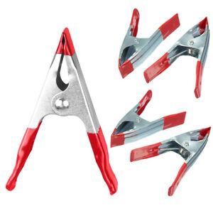 4 X Spring Clamp Pack 100 Mm Easy Grip Pivotant Mâchoires Stand De Marché Bâche Clip-afficher Le Titre D'origine Vviicf33-07224729-720060876