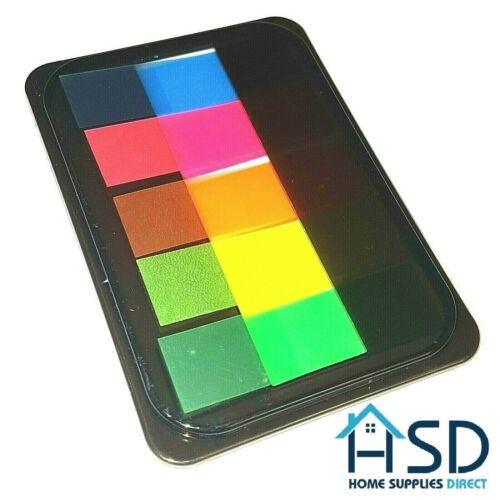 HSD Neon Sticky Index Tabs Translucent Book Page Post Marker Highlighter Strips