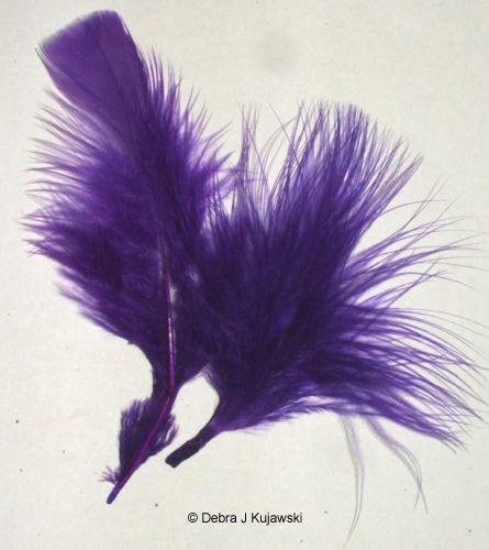 "Quality Feathers REGAL PURPLE Marabou 3-8/""  L 7 grams Apx 35"