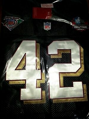 official photos bacd3 84ede New black Ronnie Lott SF 49ers Throwback #42 classic 2Patch ...