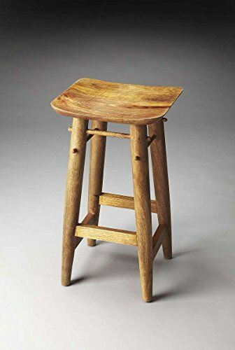Superb Butler Lotus Solid Wood Bar Stool For Sale Online Ebay Evergreenethics Interior Chair Design Evergreenethicsorg