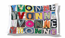 Personalized Pillowcase featuring TUCKER in photos of actual sign letters