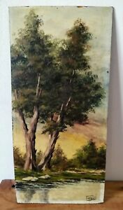 Oil on panel signed ripoll, Catalan painter