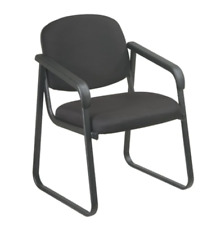 Office Star Molded Foam Seat Lobby Banquet Arm Chair Desk Guest Side Black Gray