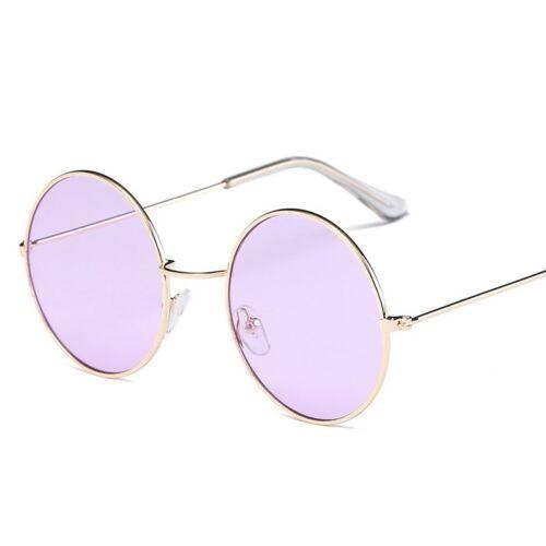 Vintage Runde Sonnenbrille Frauen Ozean Farbe Objektiv Spiegel Sonnenbrille