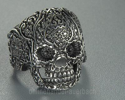 100% QualitäT Totenkopf Skull Ring Tattoo Schmuck Biker Männer Edelstahl