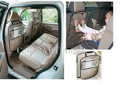 2 Pack Seat Back Protector Clear Rear Car Seat Cover Storage Pockets Toys Holder