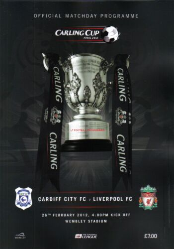 2012 CARLING CUP FINAL PROGRAMME CARDIFF CITY v LIVERPOOL