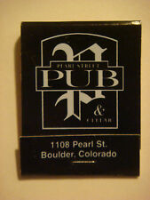 Matches Matchbook    PEARL STREET Pub & Cellar ~ Boulder, COLORADO ~ Live Music+
