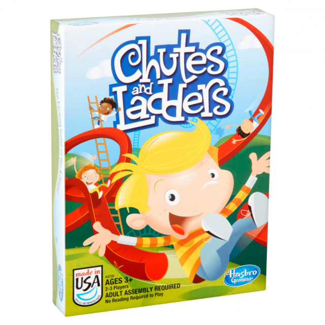 Chutes and Ladders Classic Board Game Hasbro Ages 3+ Brand New Sealed