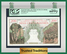 "TT PK 109s 1953 FRENCH INDO-CHINA 200 PIASTRES ""BAO DAI"" PCGS 66 PPQ NONE FINER"