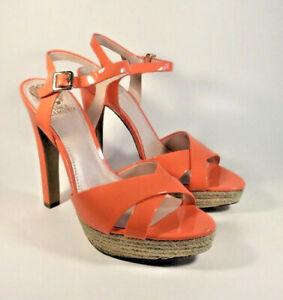 Us nouvelles bout Sandales 10 Leater M4836 ouvert femmes Mirella Patent Veste à M Camuto wPnzfxU