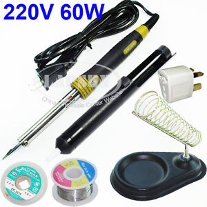 60W-Electric-Soldering-Iron-Kit-Stand-Desoldering-Pump-Sucker-Solder-Wire-Reel