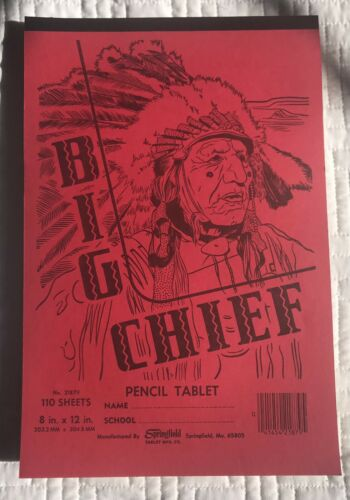 Vintage Big Chief 100 Sheet Lined Writing Tablet 8x12 Springfield Tablet Unused