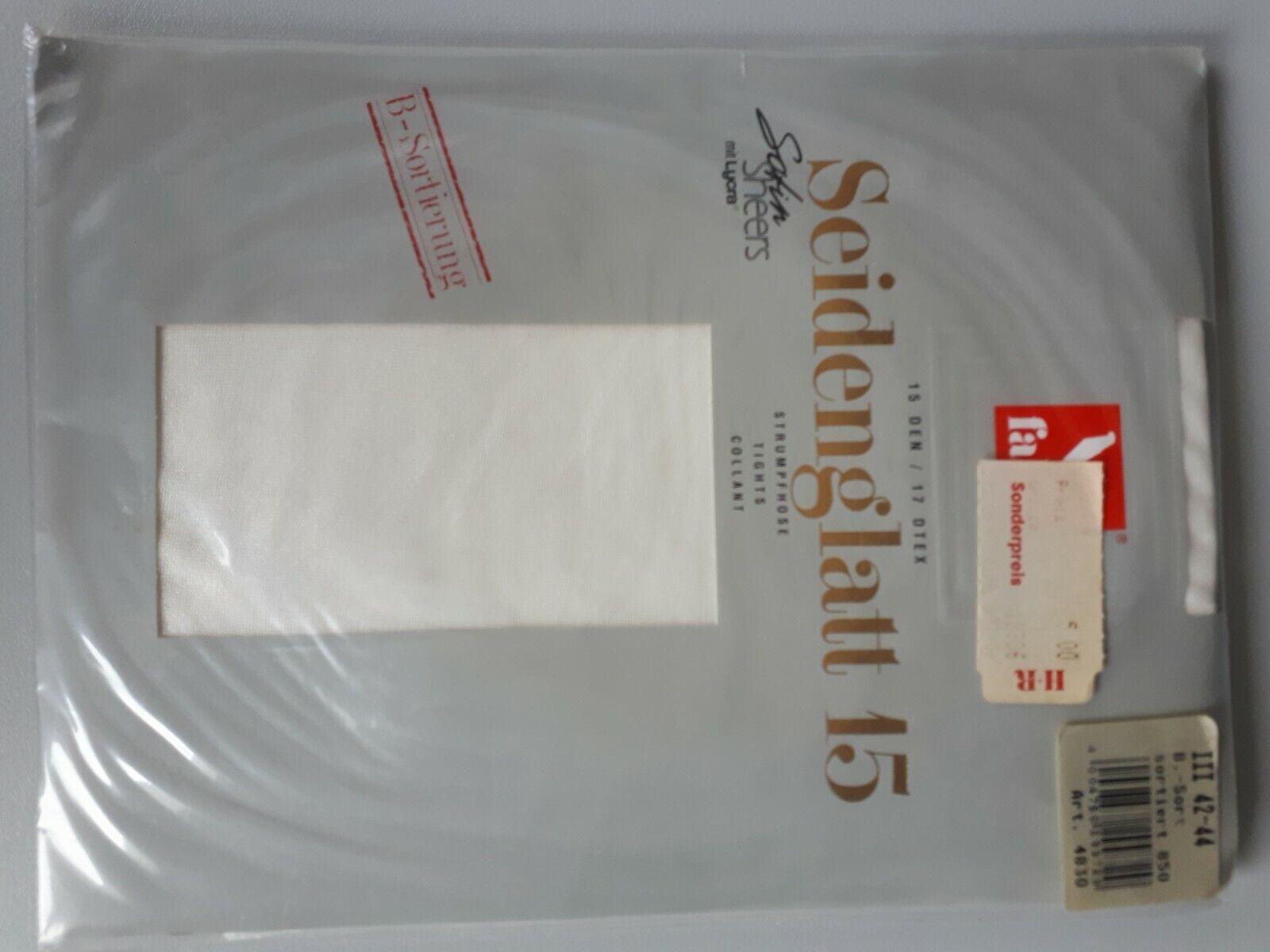Falke Seidenglatt 15 Feinstrumpfhose Gr 36/38 schwarz wie samt und Seide elegant