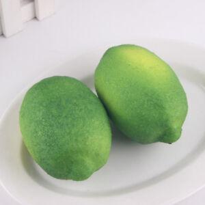 NEW-Lifelike-Artificial-Lemon-Plastic-Fake-Fruit-Food-Home-Decor-Decoration-x1