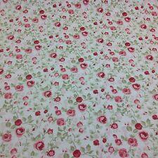 Clarke e Clarke Maude VECCHIO rosa floreale tessuto di cotone per Tenda / tappezzeria.