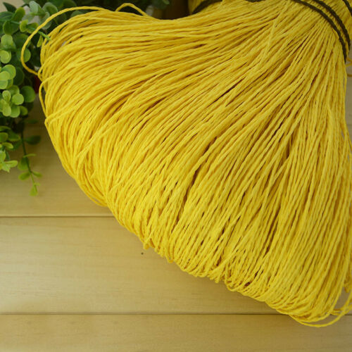 Summer Raffia Organic Straw Paper Yarn Hand Knitting Rope for Crochet Hat Bag