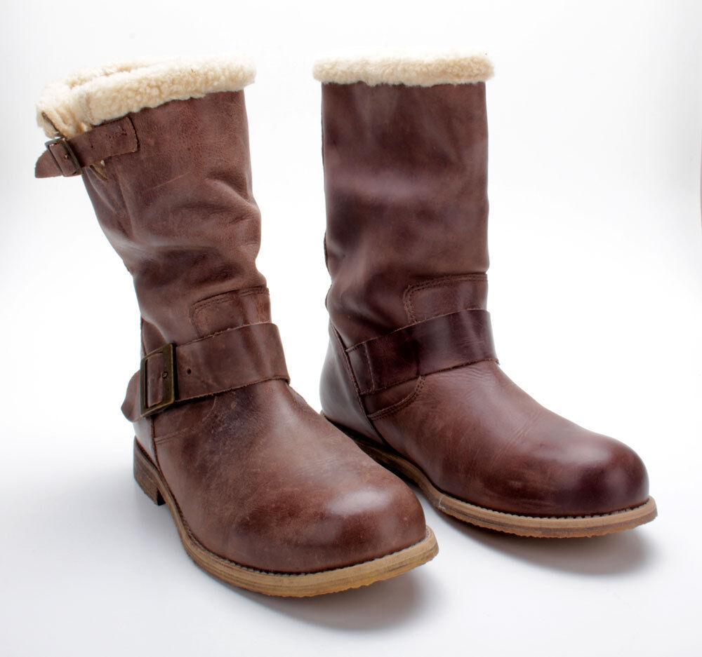 Buffalo botas botas botas 13980f washed Leather marrón 01  despacho de tienda