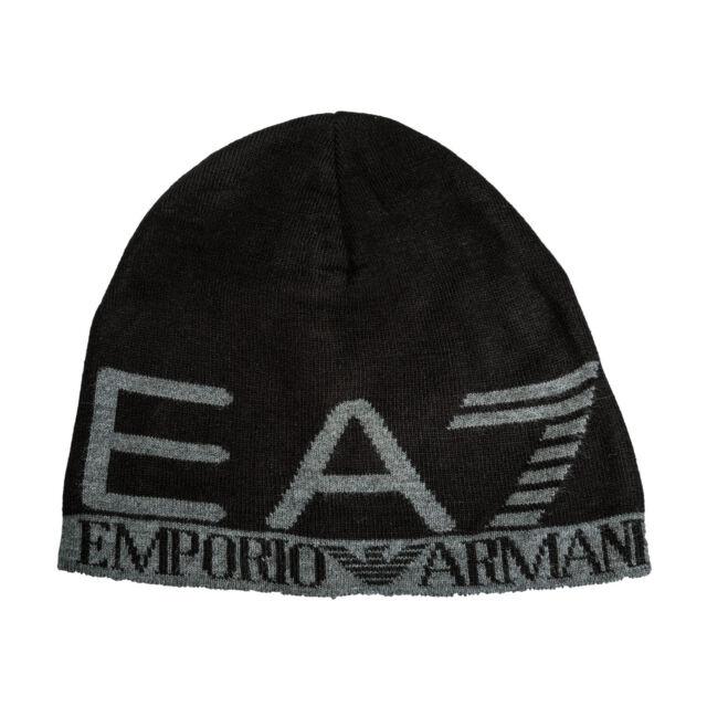 db354598fad Hat EA7 Emporio Armani 7 EA 275560 Unisex Man Woman Black Logo Grey ...
