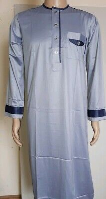 men/'s jubba thobe jilbah Al Ansar designer jubba jilbah white  Size 58 large