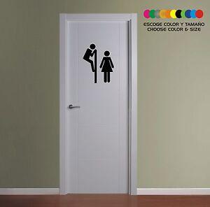 PEGATINA-STICKER-VINILO-VINYL-AUFKLEBER-WC-Bathroom-Toilette-Bano