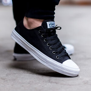 8a7510e10 Converse Chuck Taylor All Star II 2 Lunarlon Black Low Shoes 150149C ...