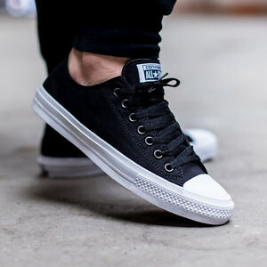 57dc0baac609 Converse Chuck Taylor All Star II 2 Lunarlon Black Low Shoes 150149C ...
